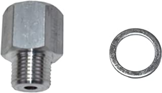 A-Team Performance Oil Pressure Sensor LS Engine Swap M16 1.5 Adapter to 1/8 NPT Compatible with LS1 LSX LS3 Gauge 551172