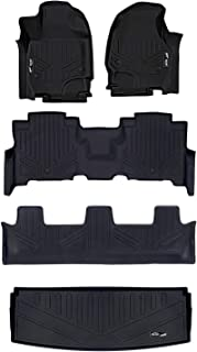 MAXLINER Floor Mats 3 Rows and Cargo Liner Behind 3rd Row Set Black for 2018-2019 Expedition - 2nd Row Bench Seat (No Max)