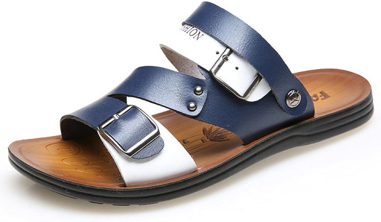 DHFUD Men's Sandals Korean Breathable Casual Sandals Men's shoes Fashion Beach shoes