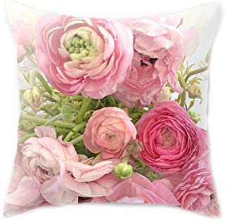 Susada 45x45CM Mediterranean Nordic Style Peach Velvet Home Decorative Cushion Cover Colored Rose Flower 3D Digital Printing Throw Pillow Case