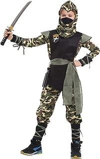 Children's Camouflage Mystery Ninja Costume Boy's Clothes Set