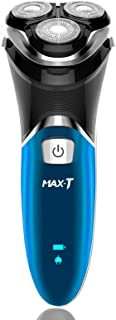 Electric Shaver for Men,Max-T Rechargeable Rotary Electric Razor Corded and Cordless IPX 7 100% Waterproof With Pop Up Trimmer Wet & Dry