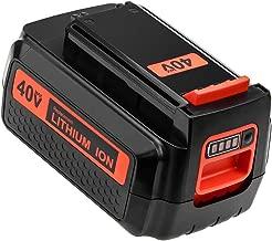 40 Volt 2.5Ah LBXR2036 Replace for Black and Decker 40V Lithium Battery Max LBX2036 LBXR36 LBX36 LBX2040 LST540 LCS1240 LBX1540 LST136W Cordless Power Tools