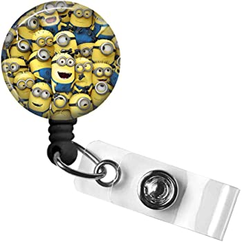 Despicable Me Work School ID Badge NEW Minion Card Holder Retractable USA