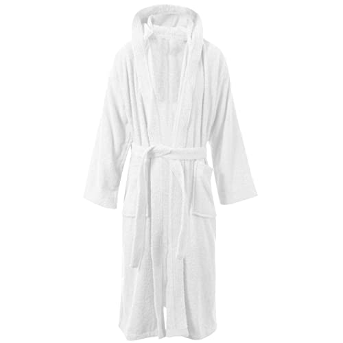 23fcdaf595 MyShoeStore Womens Mens 100% Luxury Egyptian Cotton Super Soft Terry  Towelling Bath Robe Unisex Ladies
