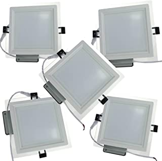 Pack 6x Downlight LED Led Panel light Cuadrado 12W 4000K Luz neutra Ultradelgado LED Panel Downlight Iluminaci/ón interior Para oficina hogar pasillo dormitorio pasillo Hall Sala de estar
