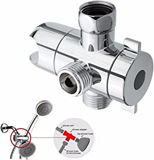 Diverter Chrome 1/2'' 3 Way T-adapter Water Valve For Toilet Bidet Shower Head Mount Diverter Angle Valve Accessories Faucet Kit for Universal showering components