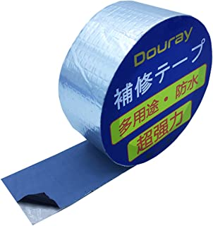 Douray 強力防水補修テープ屋根 水漏れ 壁 配管 防水テープ 屋外テント強力粘着テープ耐熱 ブチルテープ シーラント家庭 工業 多用途 (幅5cm x 長5m)