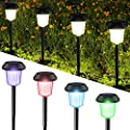 InnoGear Upgraded Solar Path Lights Waterproof Outdoor LED Landscape Lighting Auto On/Off White and Colorful Light Wireless Sun Powered for Yard Patio Walkway, Pack of 6