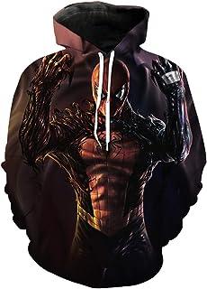 Felpa unisex con cappuccio Tide Brand Venom Spider-Man con cappuccio