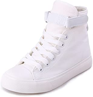 ACE SHOCK Women's Casual High Top Flat Canvas Shoes Fashion Sneakers