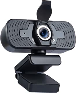 Webcam with Privacy Cover, 1080P Computer Web Camera with Microphone, Desktop Laptop Mac HD Camera, Plug and Play, for Liv...