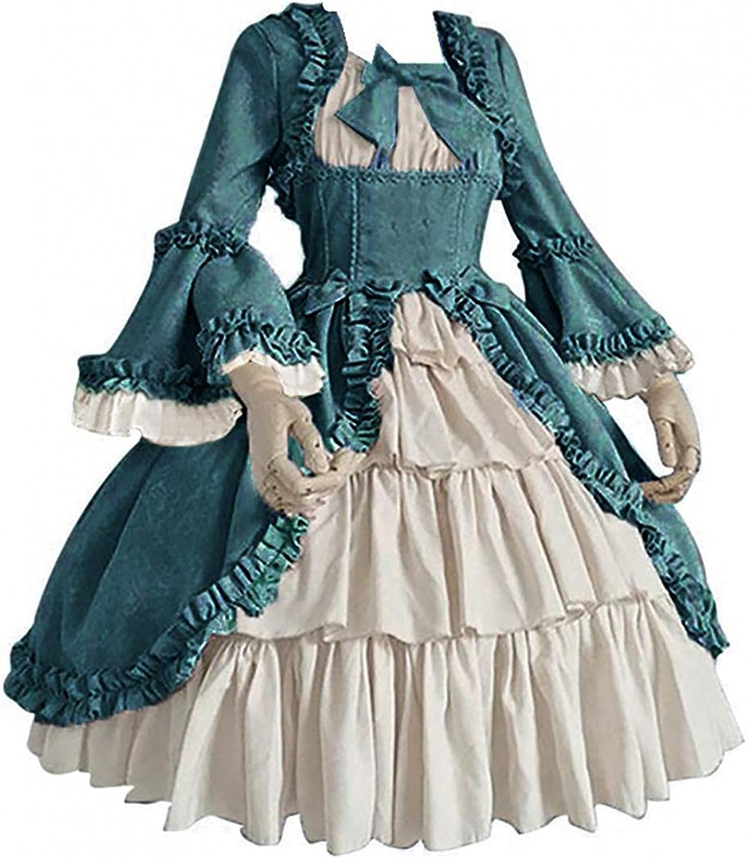 Women Vintage Court Dress Excellence Medieval Square Max 69% OFF Gothic Renaissance Col