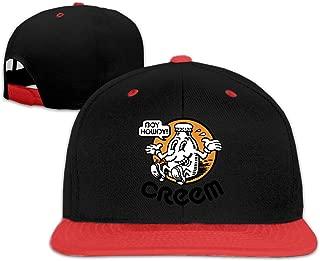 chipo Boy Howdy! CREEM mag Unisex Niños Gorras de béisbol Planas Sombrero Ajustable Gorra de béisbol Plana Bill Rojo