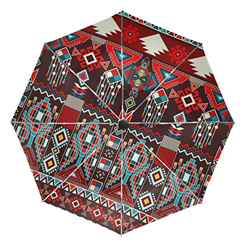 stendibiancheria 600 XiangHeFu Ombrello Ornamento Geometrico Floreale Auto Apri Chiudi 3 Pieghe Leggero Anti-UV