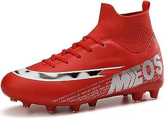 LIANNAO Chaussures de Football Homme Chaussures Athlétisme Entrainement pour Adolescents Garçon High Top AG/FG Spike Futsa...