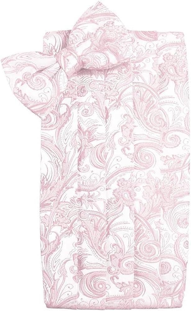 Tapestry Blush Satin Tuxedo Cummerbund and Bowtie