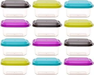 Colores Mezclados TOPBATHY 6pcs Contenedor Recipiente de Alimentos Comida para Beb/é Envase de Silicona para Alimentos y Papillas Bandeja Molde para Congelar Alimentos de Beb/é con Tapa Segura 60ml