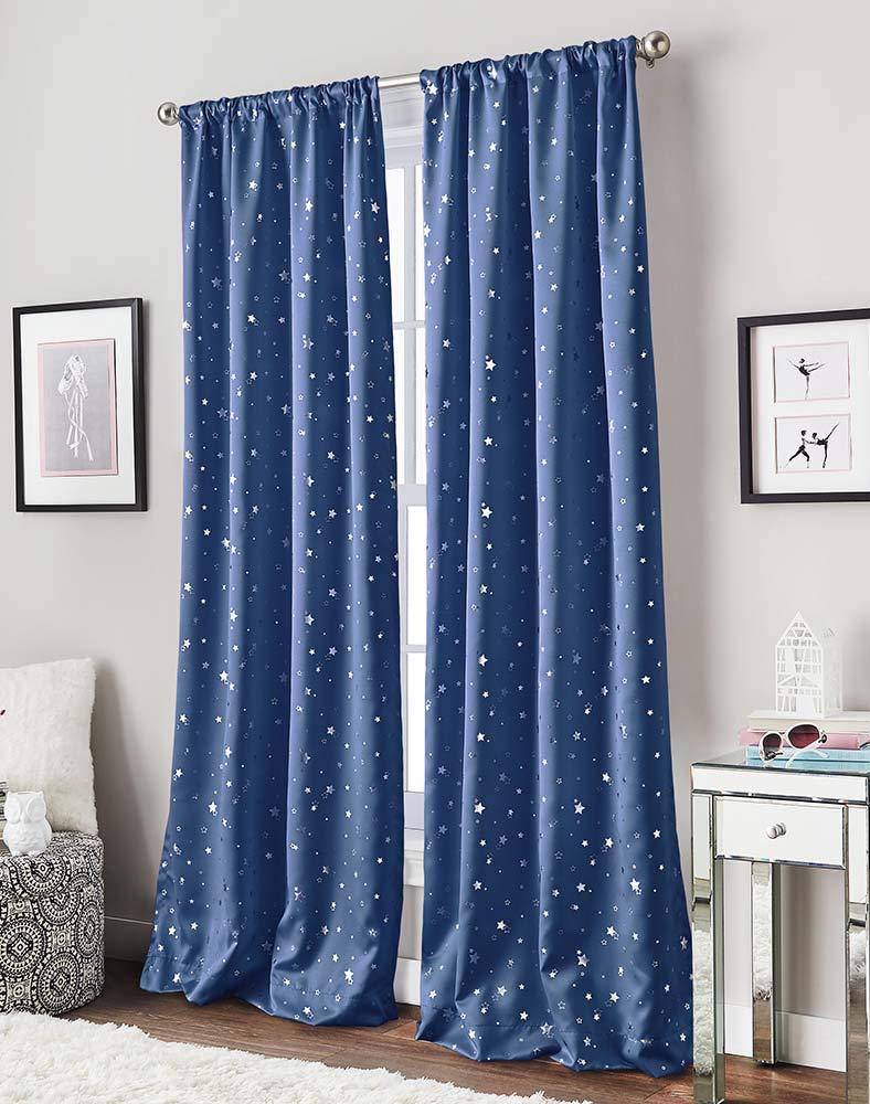 Starry Night Darkening Pocket Curtain