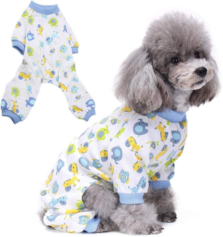 S Ichiias Pijamas de Perro Mono de Dibujos Animados Ropa peque/ña para Mascotas Ropa para el hogar Disfraz