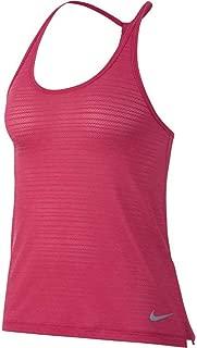 Womens Breathe Dri-Fit Miler Strappy Tank Top Rush Pink 891166-622