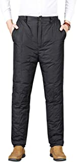 Gihuo Men's Winter High Waist Insulated Down Snow Pants Ski Trousers