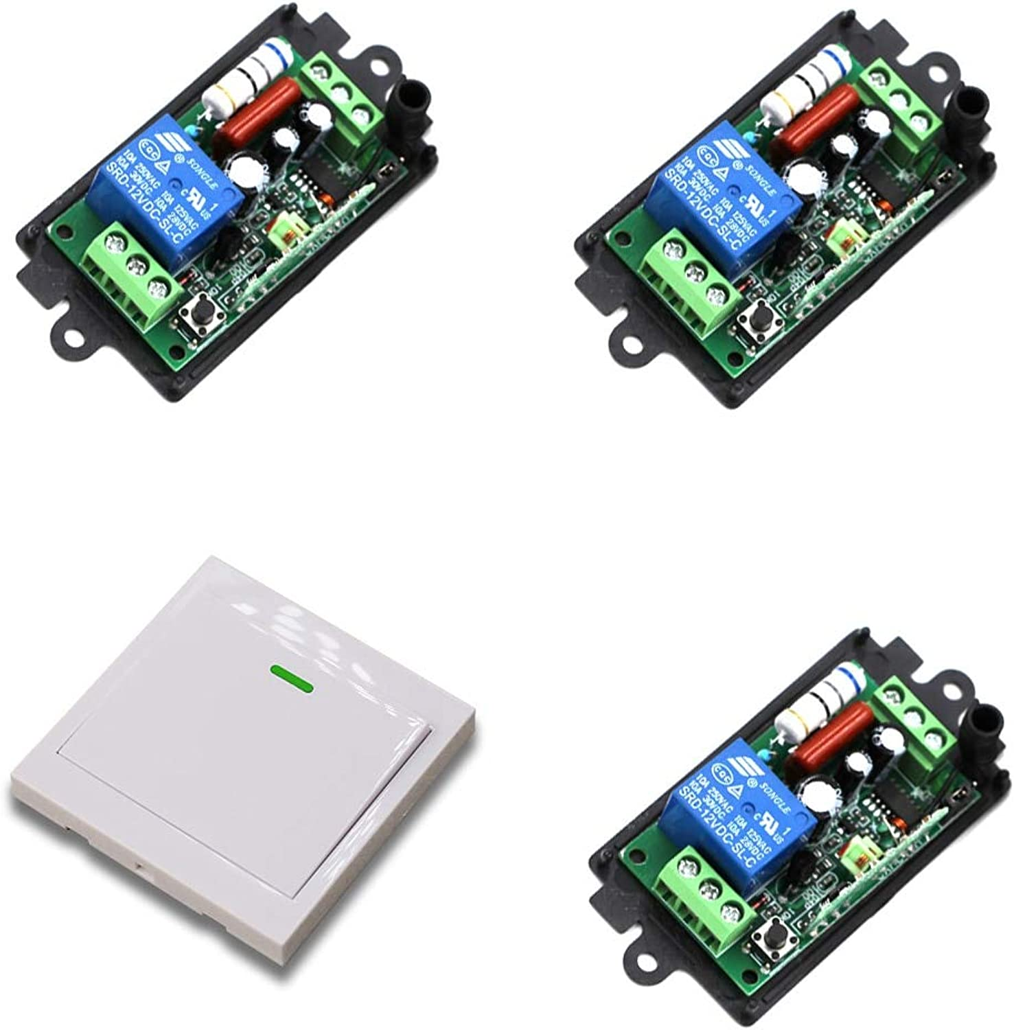 220V 110V Receiver Wireless Remote Control Switch Wall Panel Remote Transmitter Hall Bedroom Ceiling Lights Wall Lamp Smart Home  (color  220V 315MHZ)