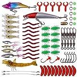 Jrancc Señuelos de Pesca 72 Piezas Cebos Artificiales para Pesca Trucha Aparejos Bajo Salmón Lubina