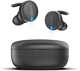 $33 Get True Wireless Earbuds, TECTOKA Bluetooth Headphones Wireless Earphones with Mic Superior Sound Bluetooth 5.0, Stereo Calls, Easy Pairing, IPX7 Waterproof for Sports