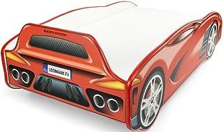 comprar comparacion Leomark Individual Cama Infantil de Madera - Sport Car - Color Rojo, con somier, colchón, para niños, Funcional Dormitorio...