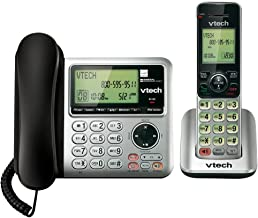 VTech CS6649 Expandable Corded/Cordless Phone System with Answering System-Caller ID/Call..