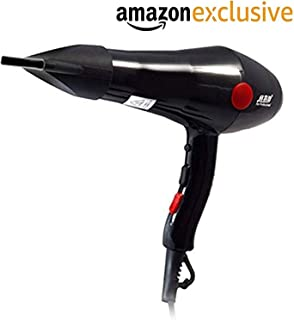 Weltime 2000W Professional Hot and Cold Hair Dryers with 2 Switch speed setting And Thin Styling Nozzle,Diffuser,Blow Dryer for Men and Women, Hair Dryers, Hair Dryers For Men, Hair Dryers For Womens (Black)