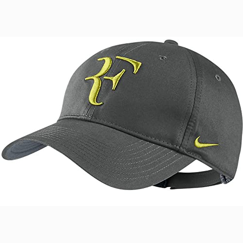 Mens Nike Roger Federer RF Hybrid Adjustable Hat Base Grey Venom Green  371202-016 73170956d3e