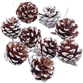 Pendant & Drop Ornaments - 9 Pieces Christmas Pine Cones Ornaments Party Decorations Craft - 3d & Tree Christma Stitch Embroidery Stitch Count Christmas Diy Dmc Set Cross Ornament Stitch Year