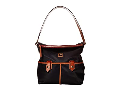 Dooney & Bourke Camden Sac (Black/Dark Chocolate Trim) Handbags