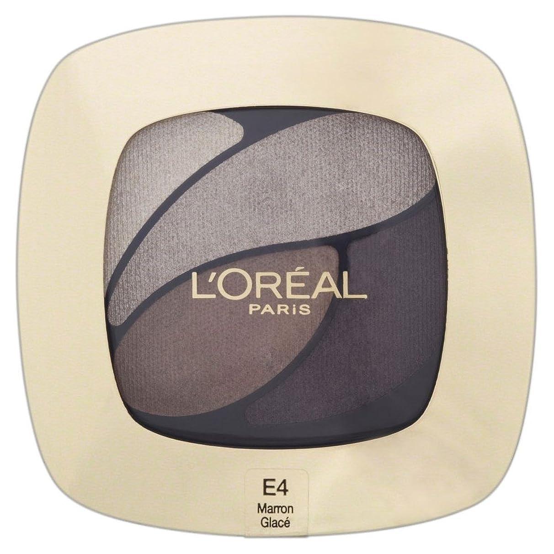 滝世界的に規則性L'Oreal Paris Color Riche Eye Shadow Quad - E4 Marron Glace Ora ?アルパリ豊富なカラーのアイシャドウクワッド - 茶色のアイスe4 [並行輸入品]