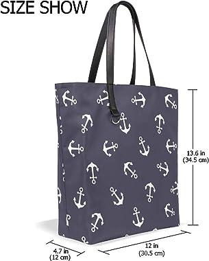 Ancla náutica Vintage Monedero Compras Bolsos de hombro Bolsa de graduación para mujeres Niñas Damas Bolsos de estudiantes Co