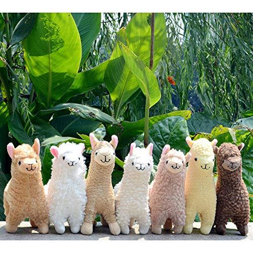 GBYGDQ Simulación De Alpaca De La Llama De Peluche De Juguete Muñeca De 23 Cm Animal Animal Relleno Muñecas Japonesas Felpa Suave For Los Regalos De Cumpleaños De Los Niños (Color : Random Color)