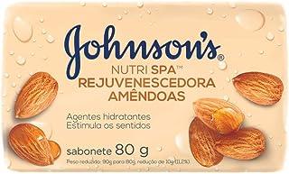 Sabonete Barra Amêndoas, Johnson's, 80G
