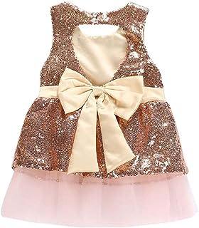 Fairy Baby Toddler Baby Girl Sequin Bow Princess Dress Sleeveless Tutu Party Pegeant Skirt