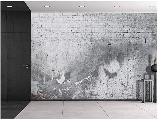 Wall26 Gray Cracked Brick And Pavement Wall Wall Mural Removable Vinyl Wallpaper Home Decor 100x144 Inches