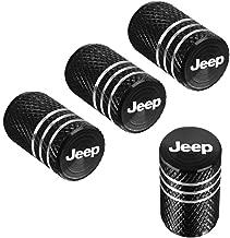 QINGTECH 4pcs for Jeep Valve Stem Caps,Tire Caps for Car,Motorbike,Trucks,Bike and Bicycle Aluminum