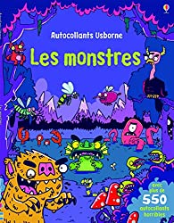 Cahiers de jeux pour Halloween Les monstres - Autocollants Usborne