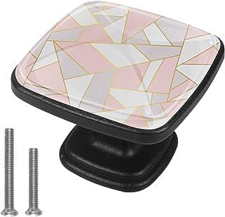 Fond géométrique Gris Rose Boutons D'armoire 4 Pcs Poignés Poignée De Champignons Boutons D'aluminium Porte Poignées avec ...