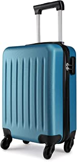 Kono 19 inch Carry On Lightweight and Durable Luggage ABS 4 Wheel Spinner Suitcase Hard Cabin Travel Case Hand Luggage for Travel, Business (Blue)