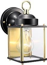 Design House 502658 Coach 1 Light Indoor/Outdoor Wall Light, Black [並行輸入品]