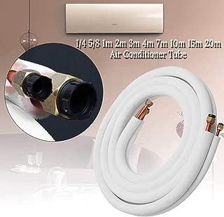 LIUSBAO-KT, Tubos de aire acondicionado Tuberías Accesorios para mangueras Par Tubería de bobina Tubería de cobre aislada 1/4 '' 5/8 '' Agregar Fluoruro Tubo refrigerante Alta presión ( Color : 1m )