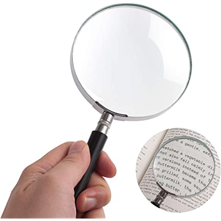 10X Hand Magnifying Glass Classic Magnifier Jewelers Jewelry Inspection Tool