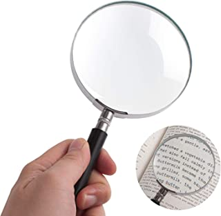 Magnifying Glass, Insten 3X Handheld Reading Magnifier, 100MM Large Magnify Glass w/ Handle for Reading Map, Book, Inspect...