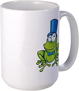 Large Mug Coffee Drink Cup Frog with Top Hat